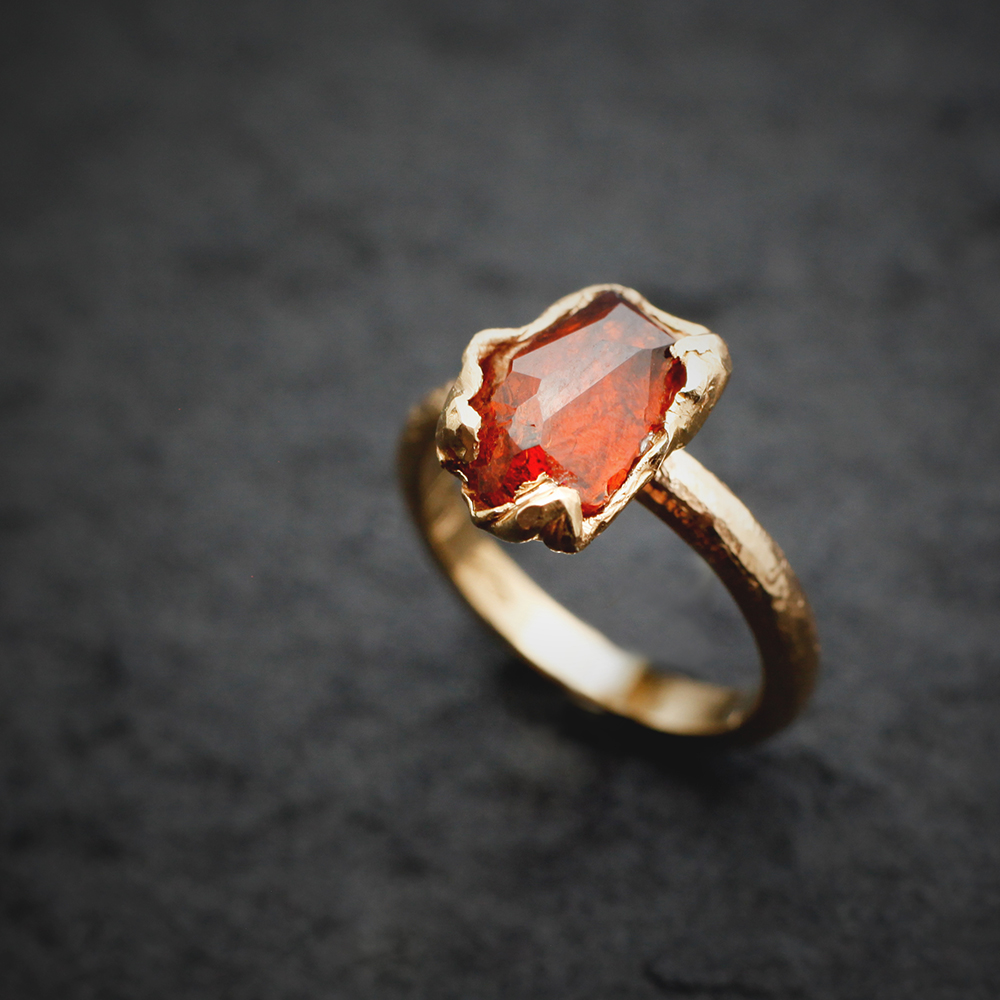 Rose Gold Ring with tourmaline