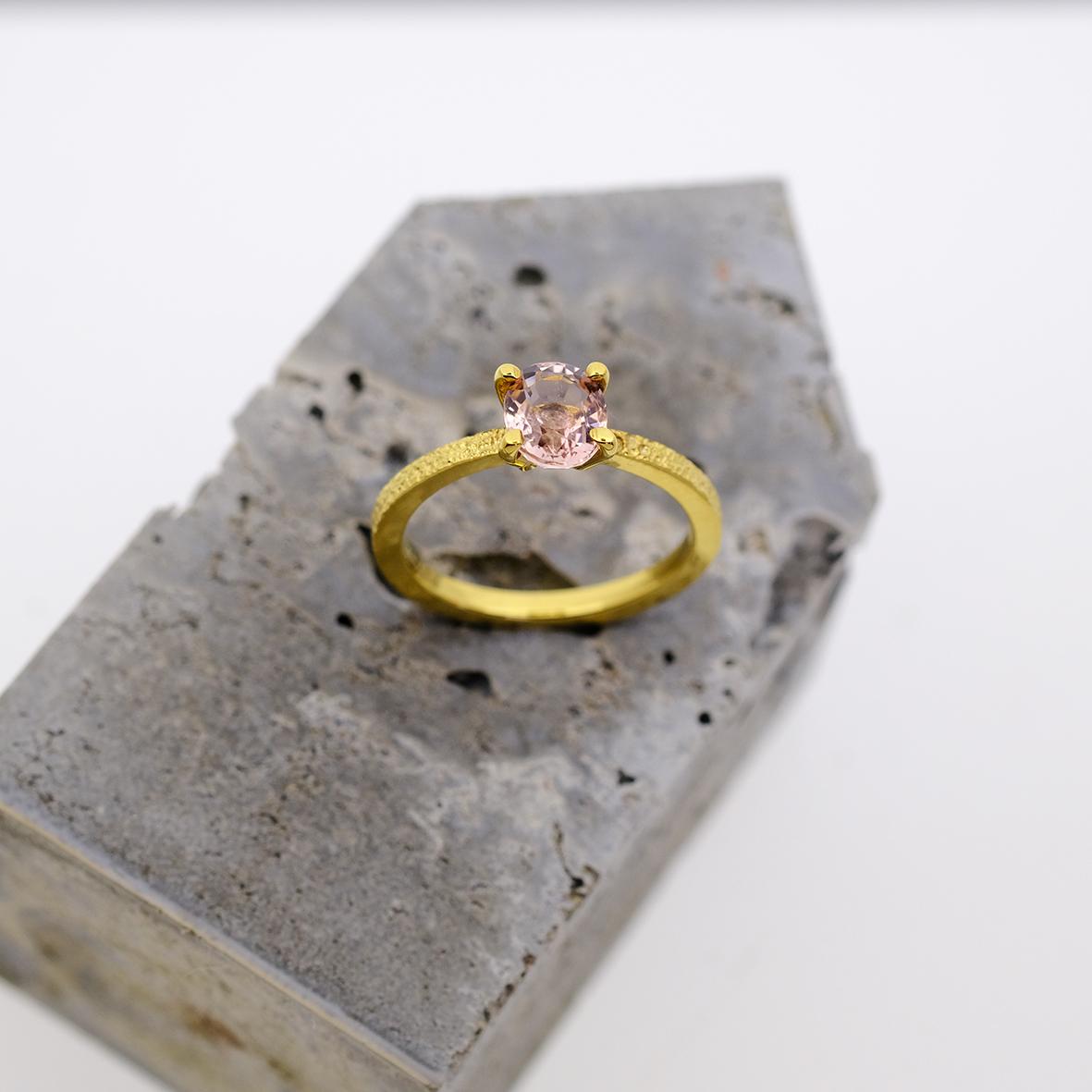 verlovingsring met toermalijn